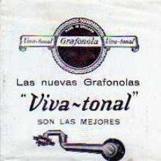 Radios antiguas: CATALOGO NUEVAS GRAFONOLAS VIVA-TONAL. Lote 20214030