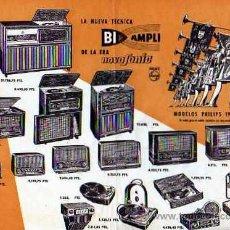 Radios antiguas: FOLLETO RADIOS PHILIPS 1957 . Lote 20214043