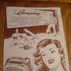 Radios antiguas: FOLLETO PUBLICIDAD RADIO CAMPING. Lote 27294992
