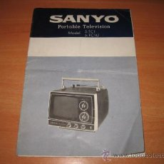Radios antiguas: MANUAL DEL SANYO PORTABLE TELEVISION MODEL 5-TC 1....5-TC1U. Lote 21823595