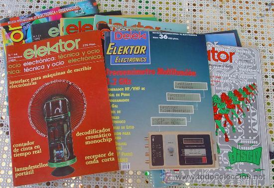LOTE ELEKTOR , REVISTAS DE ELECTRONICA..SANNA (Radios, Gramófonos, Grabadoras y Otros - Catálogos, Publicidad y Libros de Radio)
