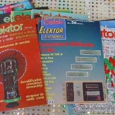 Radios antiguas: LOTE ELEKTOR , REVISTAS DE ELECTRONICA..SANNA. Lote 180297655