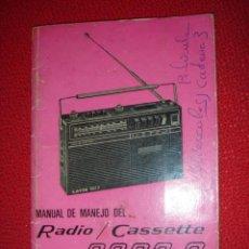 Radios antiguas - MANUAL DE MANEJO RADIO CASSETTE CASETE LAVIS MODELO 3002 C. - 22787246