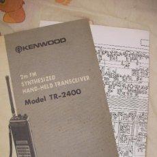 Radios antiguas: MANUAL Y ESQUEMAS DEL 2M FM SINTHESIZED HAND HELD TRANSCEIVER MODEL TR-2400. Lote 23757675