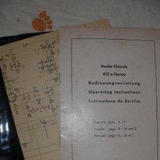 Radios antiguas: MANUAL Y ESQUEMA RADIO CHASSIS 612 A STEREO. Lote 23757828