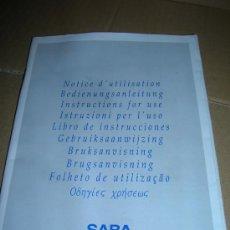 Radios antiguas: LIBRO DE INSTRUCCIONES TELEVISION SABA M 3700. EN 10 IDIOMAS, CON 82 PAGINAS, VER FOTOS.. Lote 26924041
