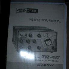 Radios antiguas: MANUAL DRAKE MANUAL TR-4C. Lote 130370915