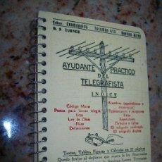 Radios antiguas: AYUDANTE PRÁCTICO DEL TELEGRAFÍSTA, INDICE-W. N. TURNER-1948? EDITOR COSMOPOLITA, BUENOS AIRES. Lote 25117449
