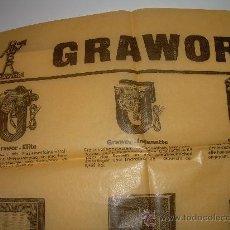 Radios antiguas: ANTIGUA PUBLICIDAD.....GRAWOR. Lote 25364942