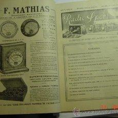 Radios antiguas: RADIO SPORT - REVISTA DE RADIO - RADIOAFICIONADO - AÑO 1928 - MADRID - MAS EN MI TIENDA. Lote 51449273