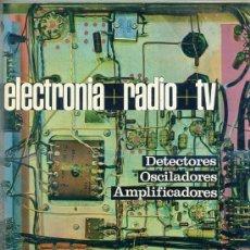 Radios antiguas: ELECTRONIA RADIO TV AFHA III : DETECTORES, OSCILADORES, AMPLIFICADORES (1970). Lote 44988976