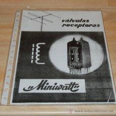 Radios antiguas: MANUAL DE VALVULAS RECEPTORAS MINIWATT. Lote 118328754
