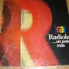 Radios antiguas: CATALOGO RADIOLA 1976.TELEVISION ,RADIO,TRANSISTORES,MAGNETOFONOS.. Lote 27551727