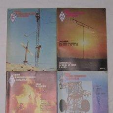 Radios antiguas: UNIÓN RADIOAFICIONADOS ESPAÑOLES URE - LOTE DE 4 REVISTAS DEL AÑO 1985 - MUY B. ESTADO. Lote 27648296