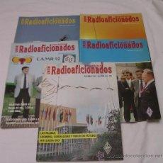 Radios antiguas: UNIÓN RADIOAFICIONADOS ESPAÑOLES URE - LOTE DE 6 REVISTAS DEL AÑO 1992 - EXCELENTE ESTADO. Lote 27649047