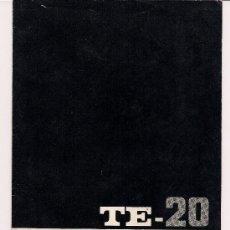 Radios antiguas: TE-20 RF SIGNAL GENERATOR / GENERADOR DE SEÑALES - OPERATING MANUAL - MANUAL OPERACIÓN . Lote 27727945