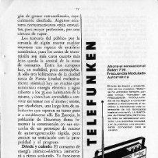 Radios antiguas: PUBLICIDAD EN PRENSA 1966 - TELEFUNKEN - RADIO. Lote 28070193