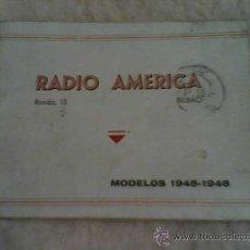 Radios antiguas: CATALOGO DE RADIOS RADIO ANTIGUA AMERICA MODELOS AÑOS 1945 -46 CON FOTOS DE LAS RADIOS . Lote 28575207