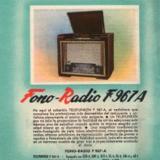 Radios antiguas: FOLLETO PUBLICITARIO