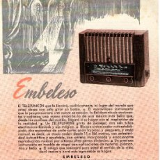 Radios antiguas: ANTIGUO FOLLETO PUBLICITARIO - RADIO