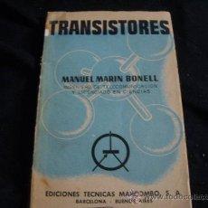 Rádios antigos: TRANSISTORES-TECNICAS MARCOMBO- RADIO Y AMPLIFICADORES-150 PAGS- AÑO 1960. Lote 29264614