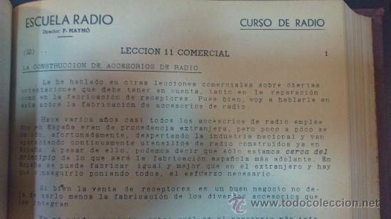 Radios antiguas: ESCUELA DE RADIO(MAYMO).CURSO DE RADIO.LECCIONES DE;MATEMATICAS,COMERCIALES,DICCIONARIO,EJERCICIOS,. - Foto 4 - 29580537