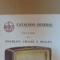 Radios antiguas: &CATALOGO GENERAL.ECO-RADIO(MADRID,SEVILLA).40 MODELOS./JUNIO1948./CON LISTA DE PRECIOS.. Lote 29894120