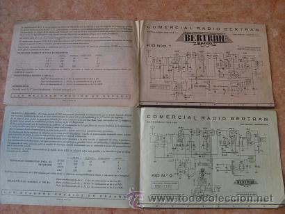 Radios antiguas: DOS FOLLETOS DE COMERCIAL RADIO BERTRAN DE BARCELONA,FICHA TECNICA KID Nº 1 Y KID Nº 2,AÑOS 40-50 - Foto 2 - 30305138