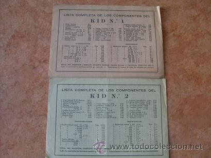 Radios antiguas: DOS FOLLETOS DE COMERCIAL RADIO BERTRAN DE BARCELONA,FICHA TECNICA KID Nº 1 Y KID Nº 2,AÑOS 40-50 - Foto 3 - 30305138