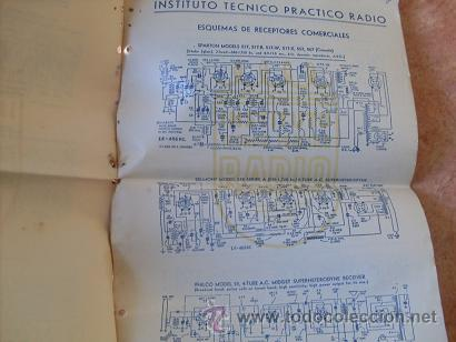 Radios antiguas: CUADERNO DE ESQUEMAS RECEPTORES-RADIOS COMERCIALES,INSTITUTO TECNICO PRACTICO-INTEPRA,AÑOS 40 - Foto 2 - 30305849