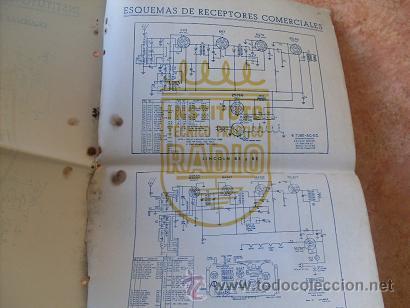 Radios antiguas: CUADERNO DE ESQUEMAS RECEPTORES-RADIOS COMERCIALES,INSTITUTO TECNICO PRACTICO-INTEPRA,AÑOS 40 - Foto 3 - 30305849