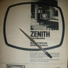 Radios antiguas: LOTE DE PUBLICIDAD DE ZENITH. 8 ANUNCIOS.. Lote 21291364