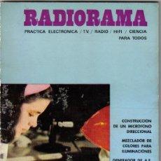 Radios antiguas: REVISTA RADIORAMA - NUMERO 34 - SEPTIEMBRE 1970. Lote 30844708