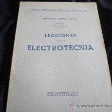 Radio antiche: LECCIONES SOBRE ELECTROACUSTICA-AÑO 1941. Lote 30955246