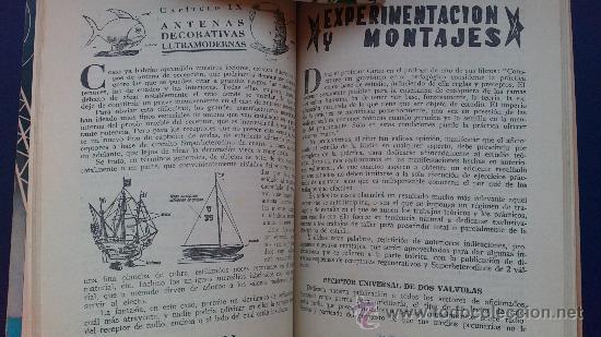 Radios antiguas: &-.radio enciclopedia nº 9 .- antenas receptoras y de transmision.- ed. bruguera.- año 1944 - - Foto 4 - 31637570