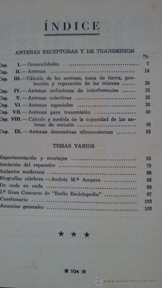 Radios antiguas: &-.radio enciclopedia nº 9 .- antenas receptoras y de transmision.- ed. bruguera.- año 1944 - - Foto 5 - 31637570