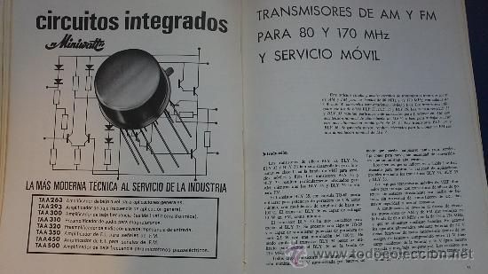 Radios antiguas: REVISTA MINUVATT TRANSMISORES CON MODERNOS TRANSISTORES-AÑO;61 - Foto 3 - 36811206