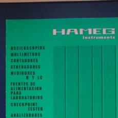 Rádios antigos: &-CATALOGO TECNICO:INSTRUMENTS-HAMEG-(AÑO 93).. Lote 31632763