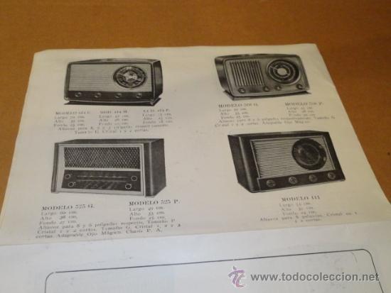 Radios antiguas: FOLLETO CATALOGO PUBLICIDAD RADIO (NUEVOS MODELOS DE RADIO TEMPORADA 1954 SERIE C ) - Foto 2 - 31736563