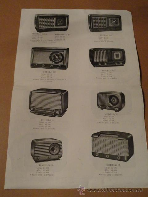 Radios antiguas: FOLLETO CATALOGO PUBLICIDAD RADIO (NUEVOS MODELOS DE RADIO TEMPORADA 1954 SERIE C ) - Foto 3 - 31736563