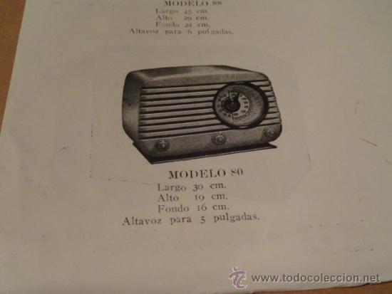 Radios antiguas: FOLLETO CATALOGO PUBLICIDAD RADIO (NUEVOS MODELOS DE RADIO TEMPORADA 1954 SERIE C ) - Foto 4 - 31736563