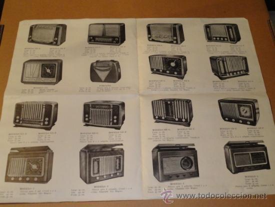 Radios antiguas: FOLLETO CATALOGO PUBLICIDAD RADIO (NUEVOS MODELOS DE RADIO TEMPORADA 1954 SERIE C ) - Foto 5 - 31736563