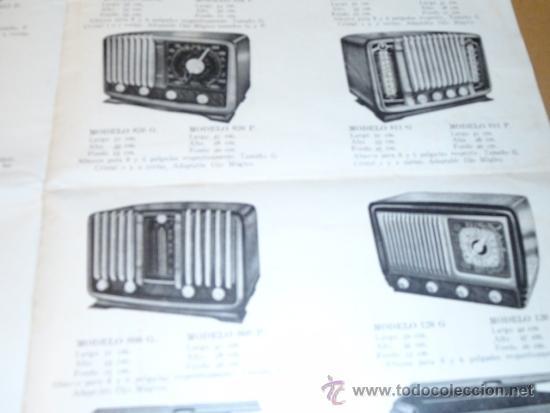 Radios antiguas: FOLLETO CATALOGO PUBLICIDAD RADIO (NUEVOS MODELOS DE RADIO TEMPORADA 1954 SERIE C ) - Foto 6 - 31736563