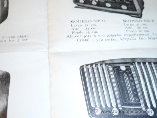 Radios antiguas: FOLLETO CATALOGO PUBLICIDAD RADIO (NUEVOS MODELOS DE RADIO TEMPORADA 1954 SERIE C ) - Foto 7 - 31736563