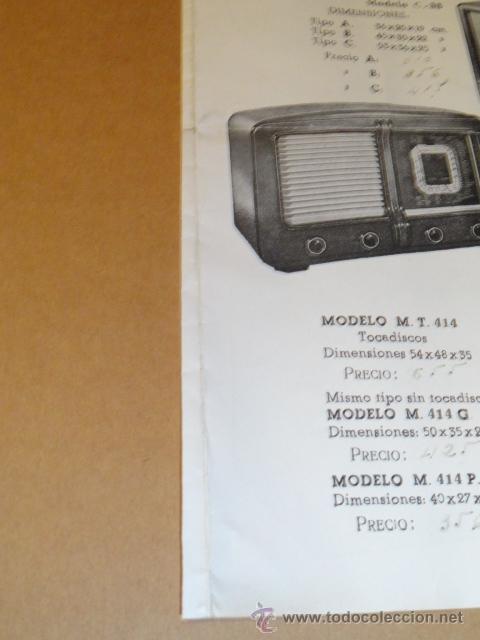 Radios antiguas: FOLLETO CATALOGO PUBLICIDAD RADIO , LABORATORIO TECNICO URANO RADIO (BARCELONA) - Foto 3 - 31736707