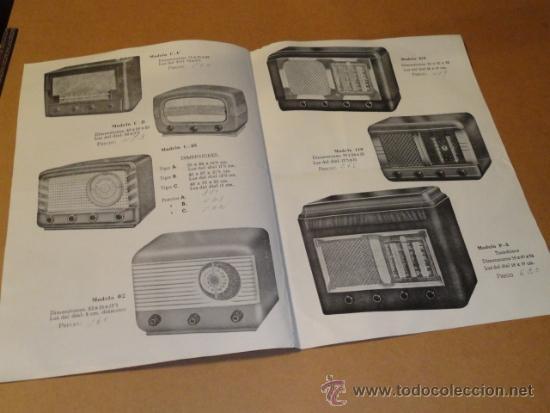 Radios antiguas: FOLLETO CATALOGO PUBLICIDAD RADIO , LABORATORIO TECNICO URANO RADIO (BARCELONA) - Foto 4 - 31736707