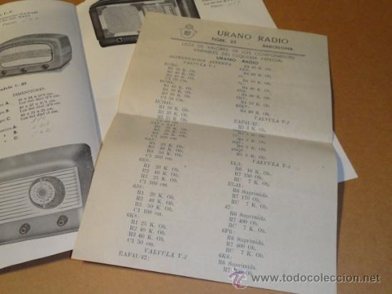 Radios antiguas: FOLLETO CATALOGO PUBLICIDAD RADIO , LABORATORIO TECNICO URANO RADIO (BARCELONA) - Foto 5 - 31736707