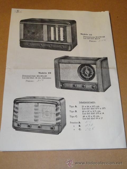 Radios antiguas: FOLLETO CATALOGO PUBLICIDAD RADIO , LABORATORIO TECNICO URANO RADIO (BARCELONA) - Foto 7 - 31736707