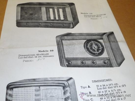 Radios antiguas: FOLLETO CATALOGO PUBLICIDAD RADIO , LABORATORIO TECNICO URANO RADIO (BARCELONA) - Foto 8 - 31736707