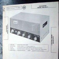 Radio antiche: ELECTRONICA, DOCUMENTACION TECNICA ANPLIFICADOR CHALLENGER MOD. CHA20/Y. Lote 31741510